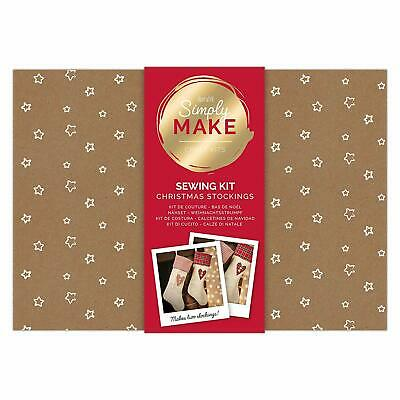 Simply Make by docrafts Create Your Own Christmas Stockings Sewing Kit, Pack 2