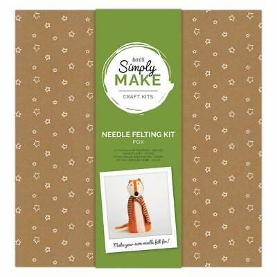 Docraft Simply Make Craft Kit Needle Felting Large Fox