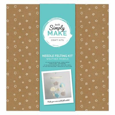 Docraft Simply Make Craft Kit Needle Felting Weather Mobile