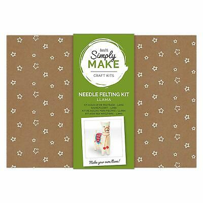 Docraft Simply Make Craft Kit Needle Felting Llama