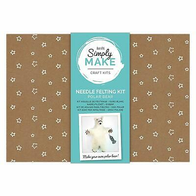 Docraft Simply Make Craft Kit Needle Felting Polar Bear
