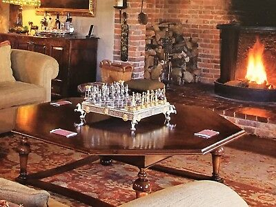 antique tables set of 3 1 octagonal and 2 matching side tables inlaid walnut