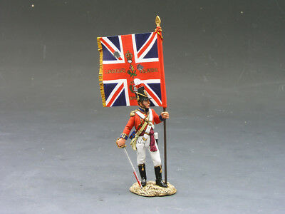 King and Country NA127 CG OFFICER WITH REGIMENTAL COLOUR (RETIRED)