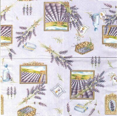 Lot de 2 Serviettes en papier Brin de Lavande Decoupage Collage Decopatch
