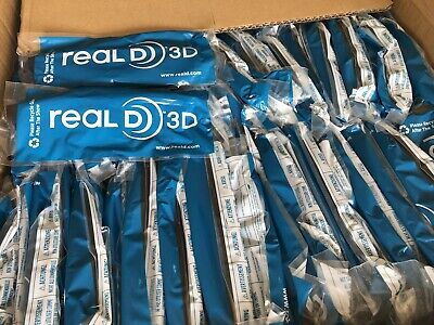 New Case Of 500 Pair Real D 3D Glasses Passive Brand Adult Genuine Real 3D
