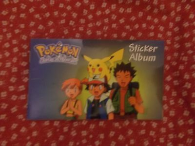POKEMON authentic 1990s sticker book, 5 blank pages -17cm x 10cm