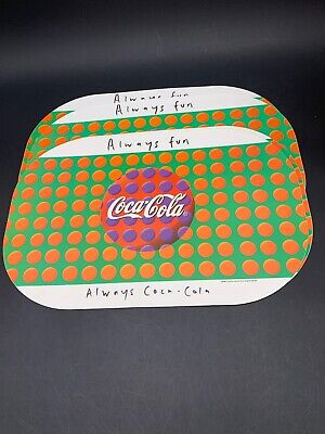 1994 Coca Cola Always Fun Always Coca Cola  Set Of 4 Placemats I Set Coke
