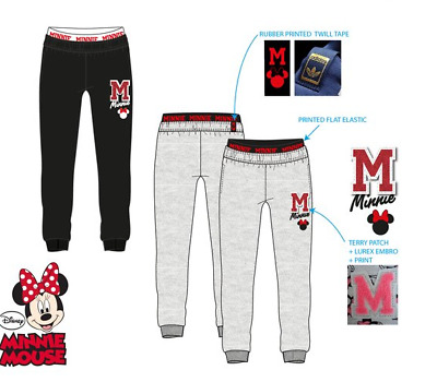 Girls tracksuit Minnie Mouse jogging pants bottom joggers 3-8 years
