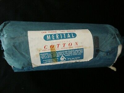 Vtg ACME 100%Bleached COTTON ROLL Non-Sterile/Surgical Swab Ear/Dog/Art/Craft US