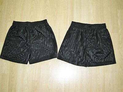 2x PAIRS OF BOYS BLACK SCHOOL P.E SHORTS 9-10 YEARS FROM GEORGE