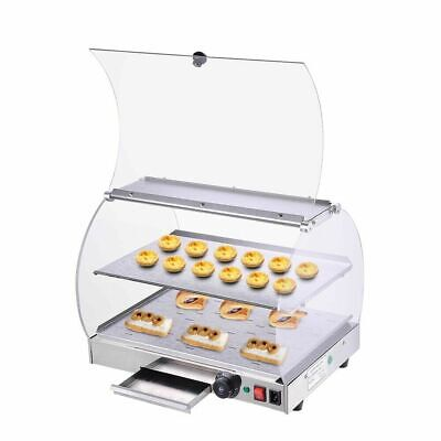 Commercial Food Warmer Display Case Hot Food Heated Cabinet Pastry Pizza Pie AU