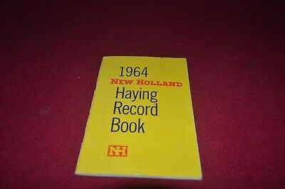 New Holland 1964 Haying Record Book Dealer's Brochure AMIL15