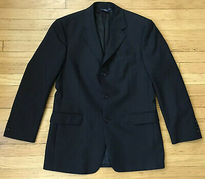 Brooks Brothers Stretch Solid Black 3 Button Suit Jacket Mens Size 40R Medium