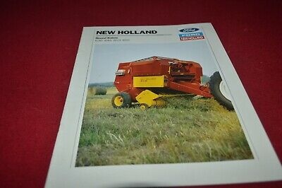 SPERRY NEW HOLLAND 851 846 round baler system brochure