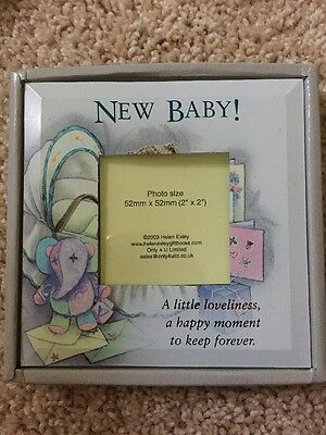 Painted Glass Baby Photo Frame / Hang Or Stand. Photo Size 52cmx52cm In Box