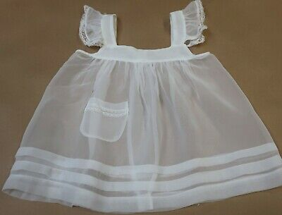 Sweet Little Vintage Little Girl's Sheer Apron Pinafore