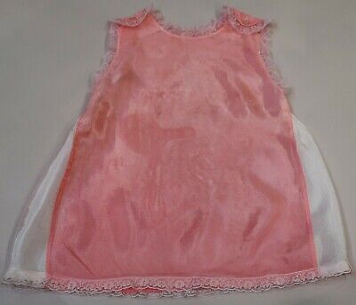 Sweet Little Vintage Child's Pink & White Petticoat With Lace Trim