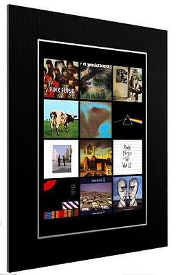 Mounted / Framed Print Pink Floyd 12 Album Discography - 3 Sizes Poster Gift Art