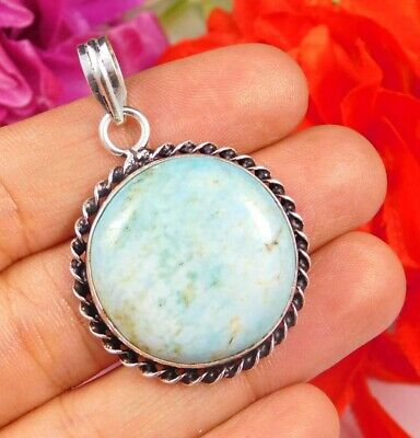 Dashing Turquoise .925 Silver Plated Handmade Pendant Jewelry JC2463