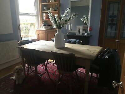 large antique pine table