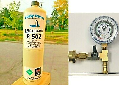 R502, R-502, Refrigerant, Disposable 20 oz, CGA600, Freezers, THERMO KING KIT D