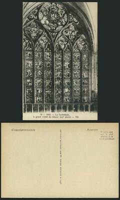 DOL Cathedral Vitrail Stained Glass Window Old Postcard