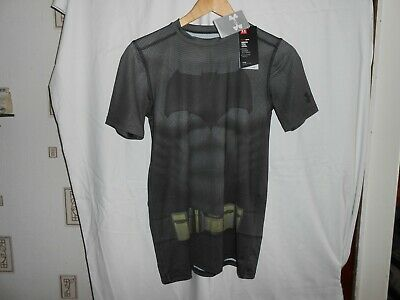 Under Armour Boys Batman Superman Heat Gear T Shirt Top Youth XL. new with tags