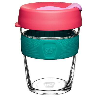 KeepCup Brew Reusuable Glass Coffee Cup Mug w/Silicone Ribbon 340ml 12oz