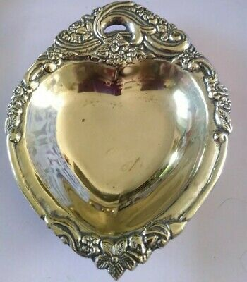 Brass Silver Plated Ashtray smokers gift retro vintage