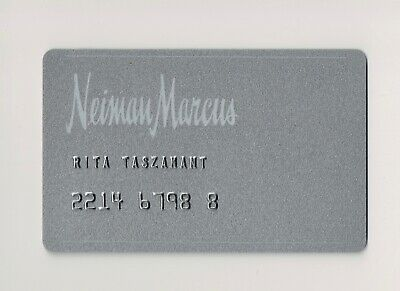 NEIMAN MARCUS BERGDORF GOODMAN Department Store Credit Charge Card Plate SILVER
