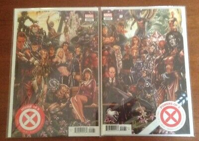 House Of X #1 + Powers Of X #1 - Brooks Connecting Variants Set