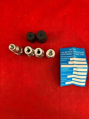 R-12 to R134a ALL ANY R12 R22 AC SYSTEMS VA-LH11CS CONVERSION ADAPTER FITTINGS