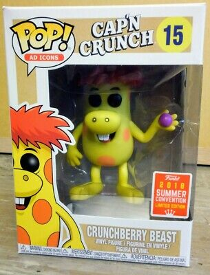 Crunchberry Beast Cap'n Crunch SDCC Exclusive Funko POP Captain Crunch Ad Icons
