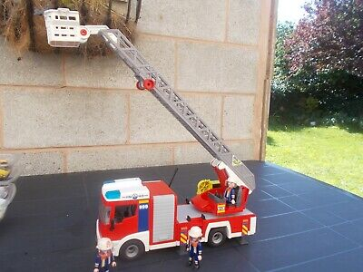 Playmobil 15.5'' Long Aerial Fire Engine-Used/Unboxed-Lovelyitem!!