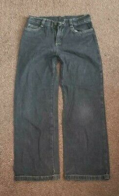 Boys 'MATALAN' Black/Grey Part Elasticated Jean. 9-10 Years. vgc.