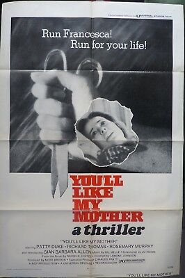 You´ll like my mother movie poster, original, 1972