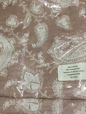 """Vent du Sud Chambord Nature Paisley Country FrenchTablecloth 67"""" x 98""""  NWT"""