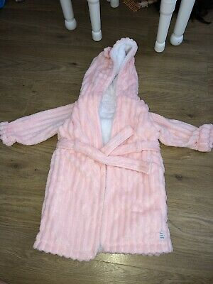 Girls Toddler Soft Coral Pink Dressing Gown 18-24 Months