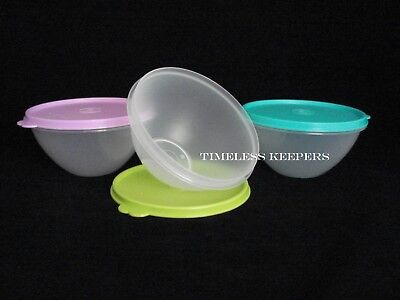 FREE SHIP Tupperware Set of 3 WONDERLIER Small Bowls 2 Cup/500ml mix NEW Colors