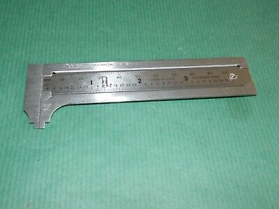 132ME General Tools 3-Inch English /& Metric Pocket Sliding Bar Caliper