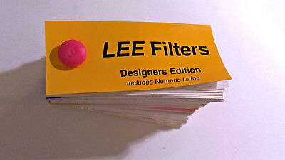 Lee Filters Swatch Book - Designers Edition with Numeric listing, Brand New