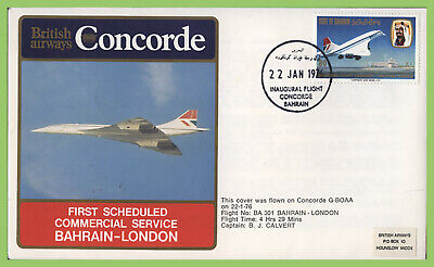Bahrain 1976 First Scheduled Commercial Servive Bahrain-London flight cover