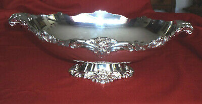 """1960s Lunt Silverplate Oval Footed Centerpiece ~ Eloquence ~ 17"""" ~ A75 ~ rare"""