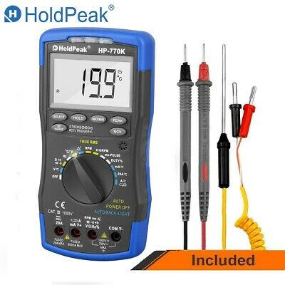 Digital Multimeter Auto Range Motor Analyzer True RMS 6000 Counts Volt Ohm Meter