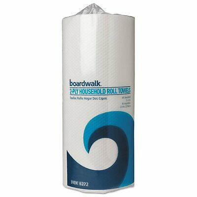 Boardwalk 6272 Paper Towel Rolls Perforated 2-Ply White 30 Rolls of 85