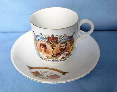 George V and Queen Mary June 22nd 1911- Cup & Saucer
