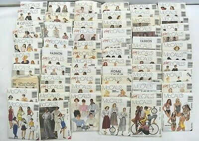 Vintage Lot of 67 1980s 90s Adult Womens Fabric Clothing Patterns McCalls