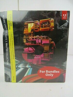 Adobe Creative Suite 5 Master Collection NEW SEALED Student Teacher MAC Apple