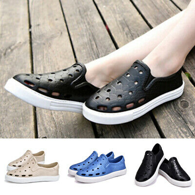 Fashion Mens Slippers Sandals Hollow-out Hole Shoes Home Casual Beach Summer