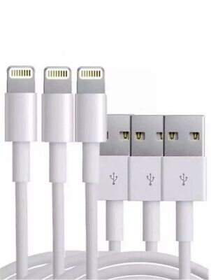 3X Genuine Original OEM iPhone Apple Lighting USB Cable Charger X8/7/6/5 3ft